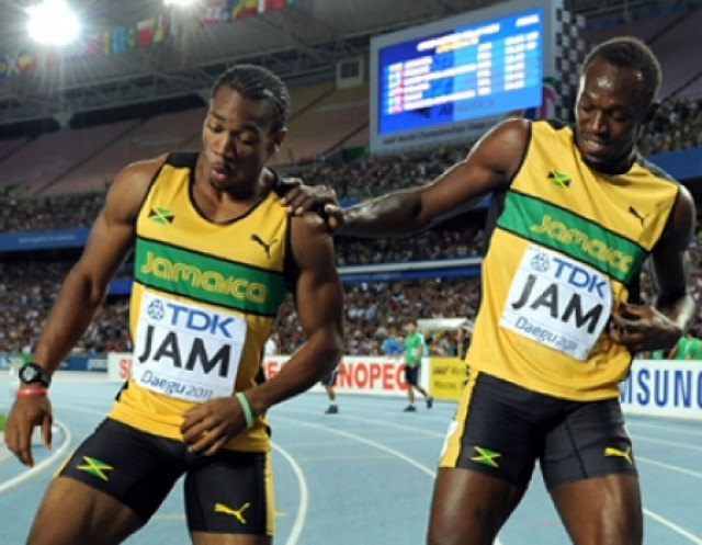 usain bolt and yohan blake 450x350 e1343510074695 Usain Bolt Faced with the Biggest Challenge of his Career