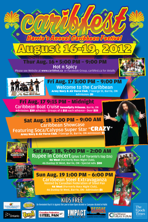 Caribfest 2012 Main Events1 Barries outdoor Caribbean Carnival has been cancelled