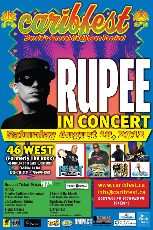 Caribfest Roxx 2012 Barries outdoor Caribbean Carnival has been cancelled