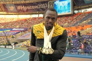 bolt medals 300x200 Usain Bolts Puma Sponsorship Deal Renewed
