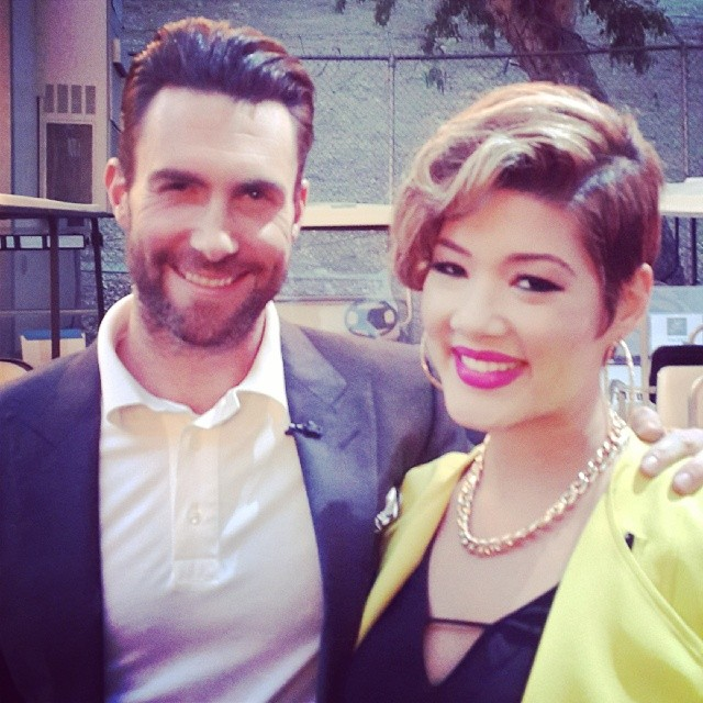 Tessanne Chin and Adam Levine