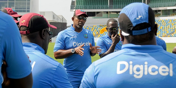 phil simmons and west indies team