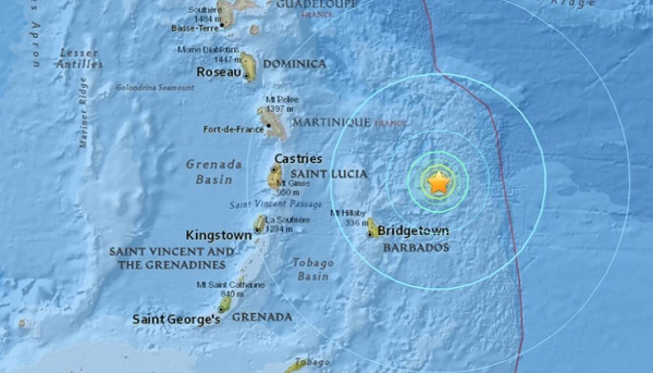barbados earthquake