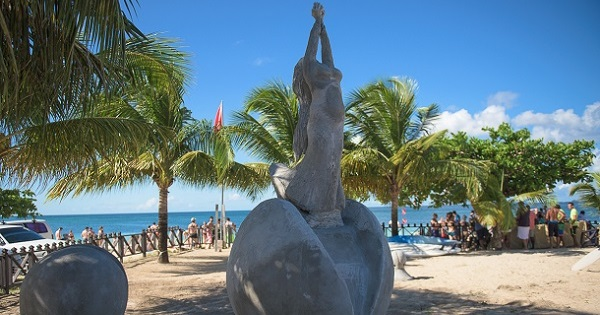 Grenada's Popular Fairytale Princess 'The Nutmeg Princess' Added To Their Underwater Sculpture Park