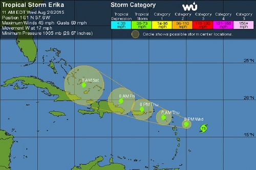 tropical storm erika 1