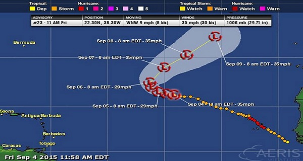 Fred Lowers Down To A Tropical Depression