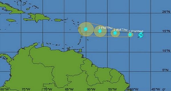 tropical depression grace 2