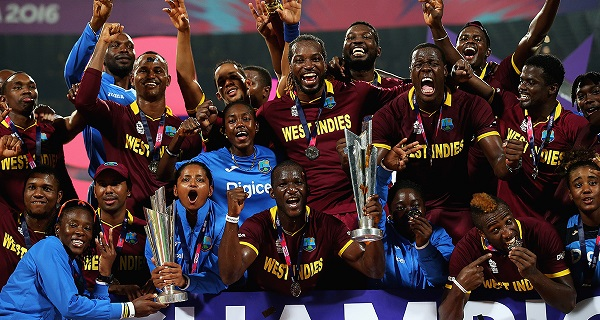 west indies men and women celebrate