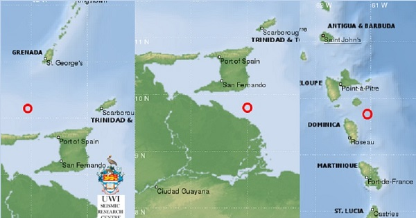 Three Quakes In The Caribbean Registered In Just Three Days
