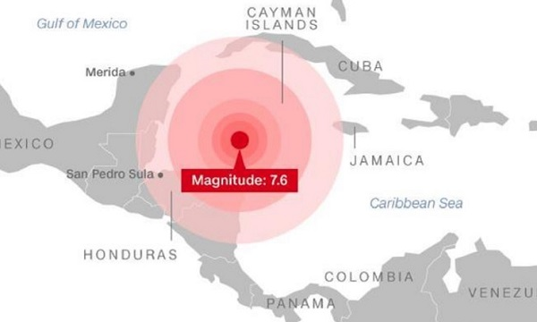 Tsunami Alert Triggered As 7.6 Magnitude Tremor Rocks Caribbean